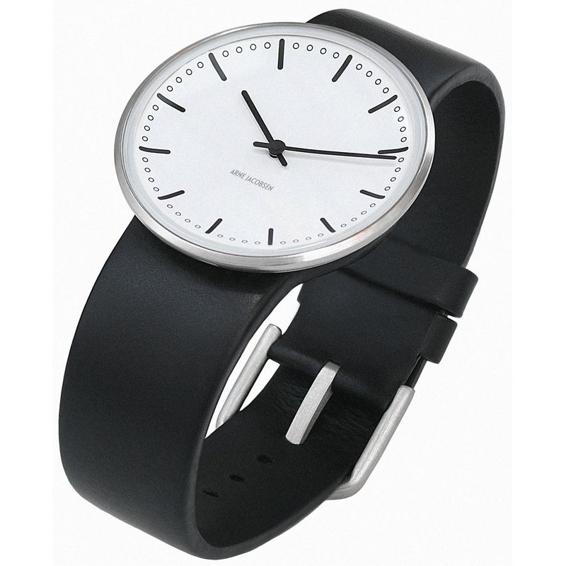 Armbandsur City Hall – vit/svart 40 mm Vit/svart