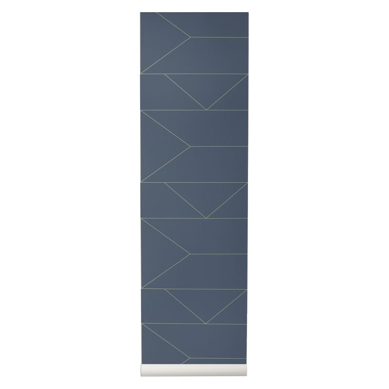 Tapet Lines Dark Blue Ferm Living