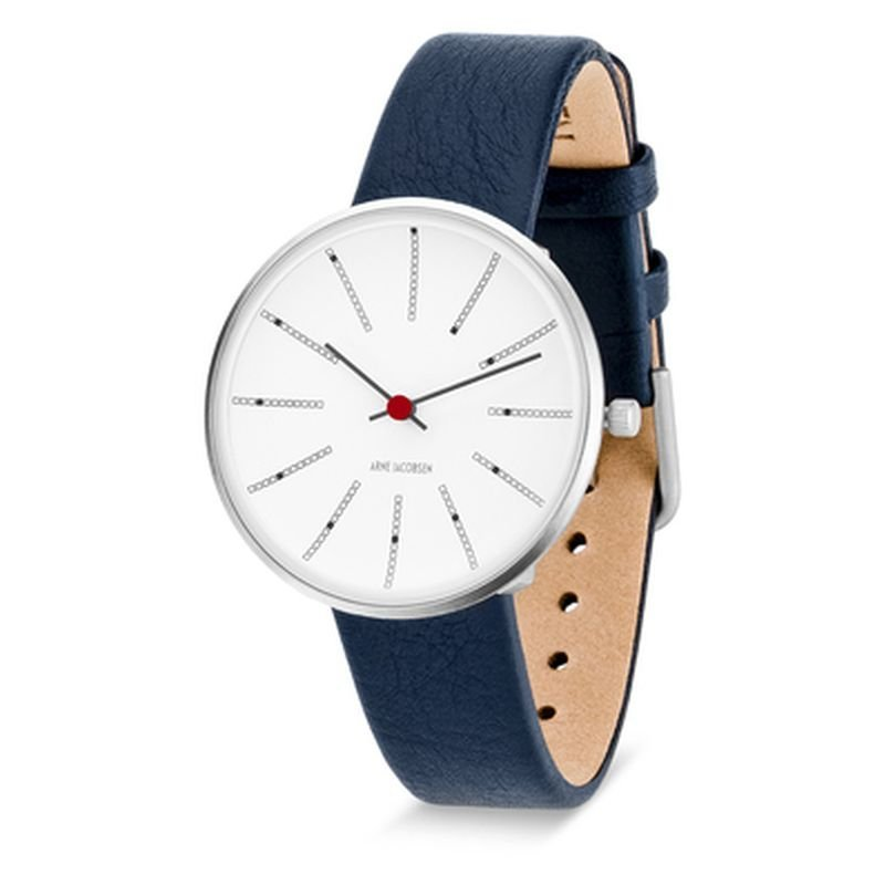 Armbandsur Bankers Vit/blå 34 mm Arne Jacobsen Clocks