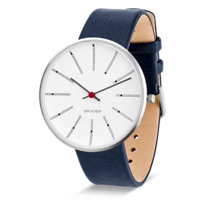 Armbandsur Bankers Vit/blå 40 mm Arne Jacobsen Clocks
