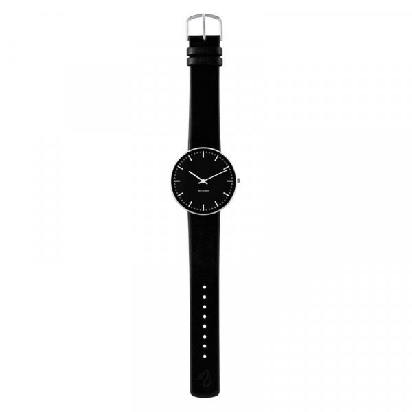 Armbandsur City Hall - svart/svart 40 mm