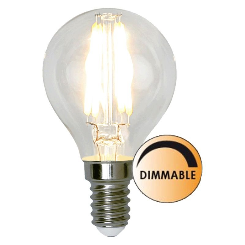 LED lampa Klar 4,2W E14 Dimbar L175 Globen Lighting