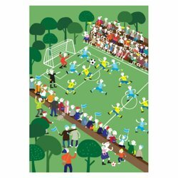 Poster Football 50x70 cm