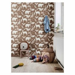 Katie Scott Wallpaper - Animal Toffee