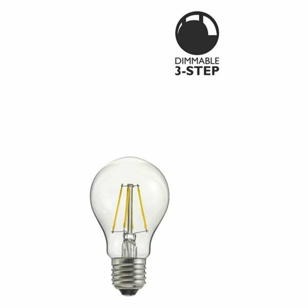 LED lampa Klar 7W E27 3-steg dimbar L115 Globen Lighting