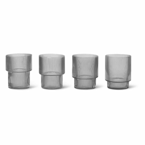 Ripple glas Smoked Grey 4-pack