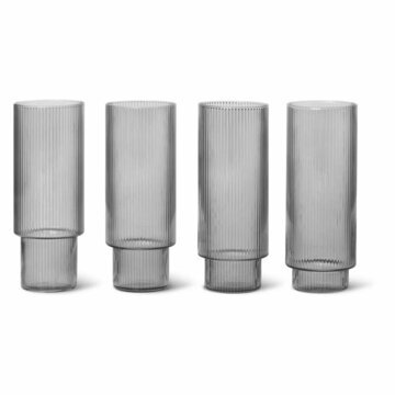 Ripple long drink glas Smoked Grey 4-pack